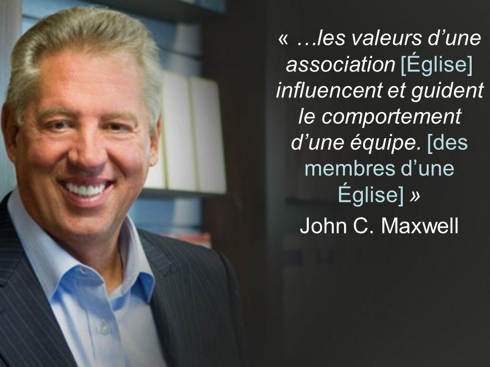 « …les valeurs d'une association [Église] influencent et guident le comportement d'une équipe.